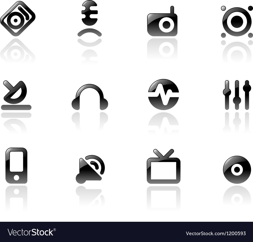 Perfect icons for media and sound vector | Price: 1 Credit (USD $1)