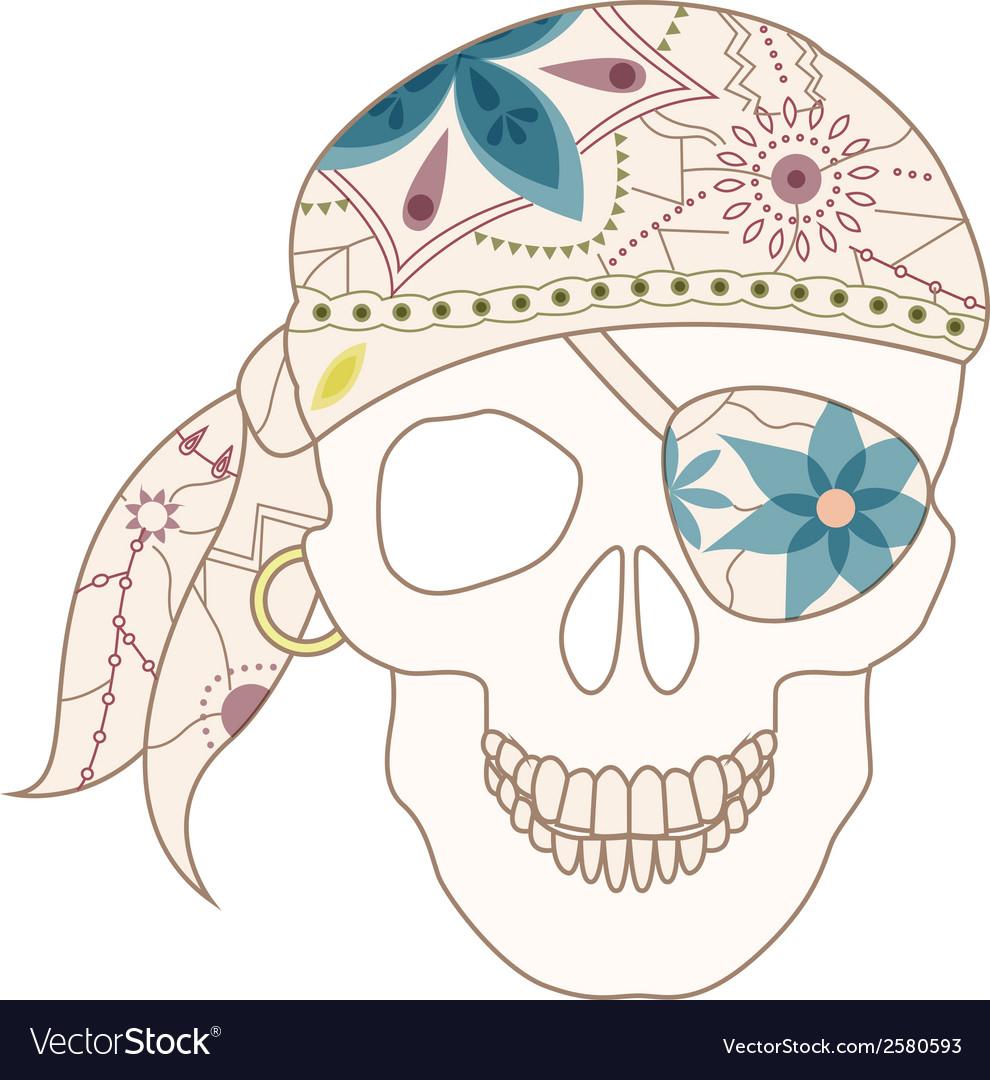 Retro skull vector | Price: 1 Credit (USD $1)