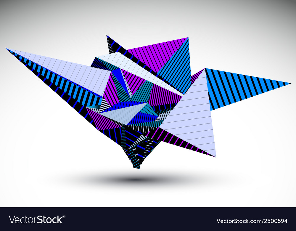 Cybernetic polygonal contrast element constructed vector | Price: 1 Credit (USD $1)