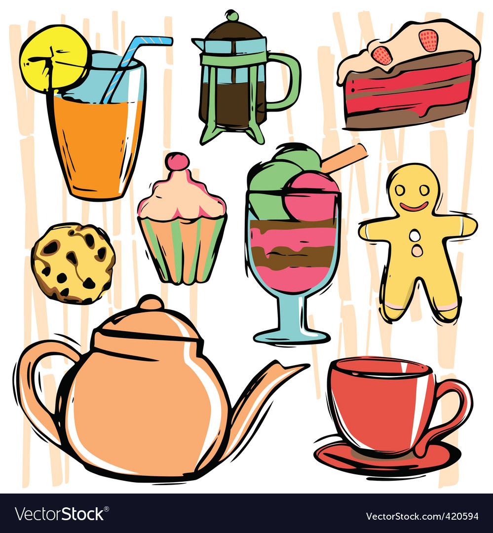 Drink and food icons vector | Price: 1 Credit (USD $1)
