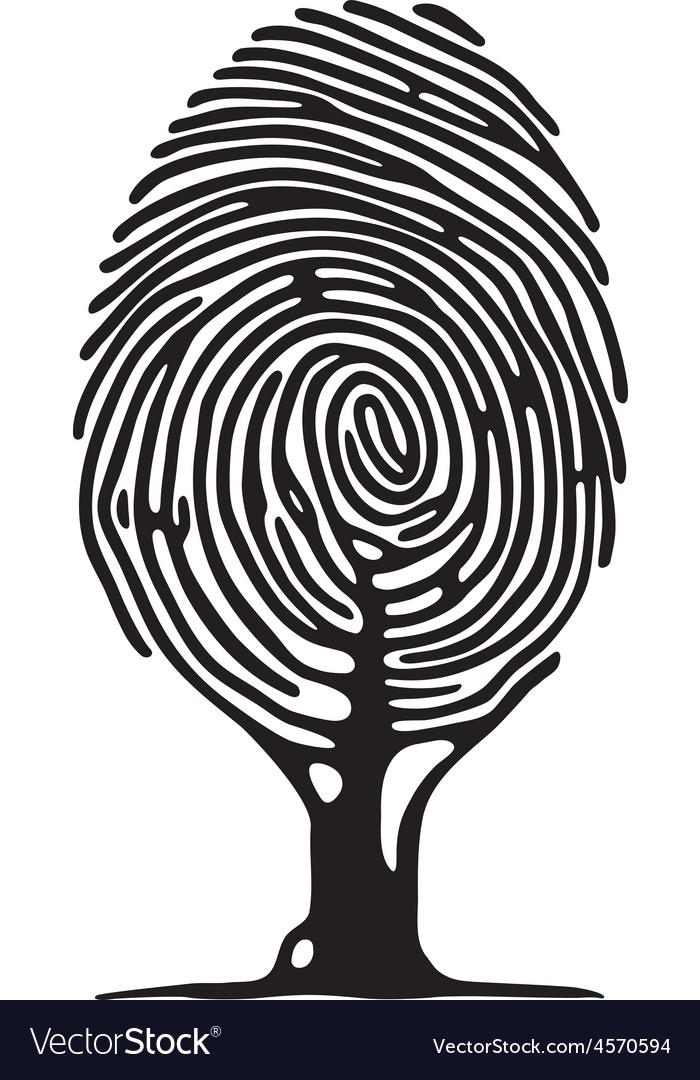Finger print tree vector | Price: 1 Credit (USD $1)
