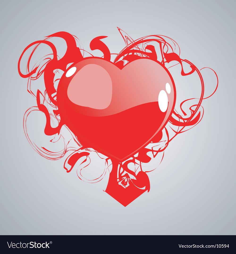 Grunge heart symbol vector | Price: 1 Credit (USD $1)