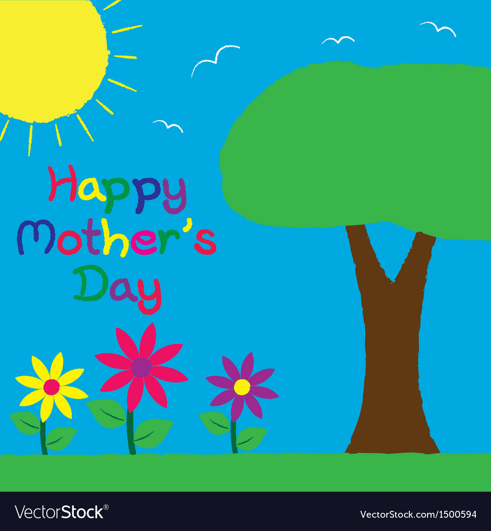 Happy mothers day vector | Price: 1 Credit (USD $1)