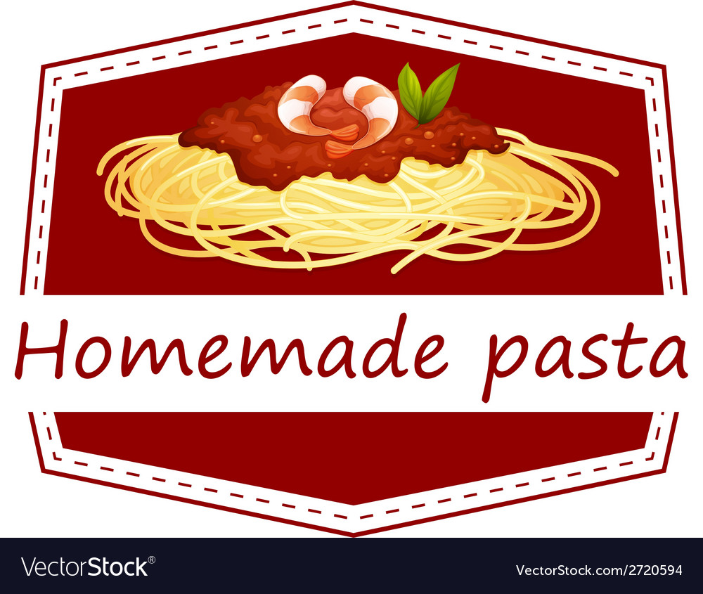 Homemade pasta vector | Price: 1 Credit (USD $1)