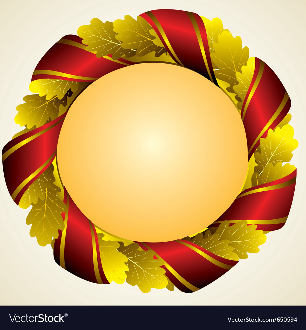 Oak golden laurel wreath vector | Price: 1 Credit (USD $1)