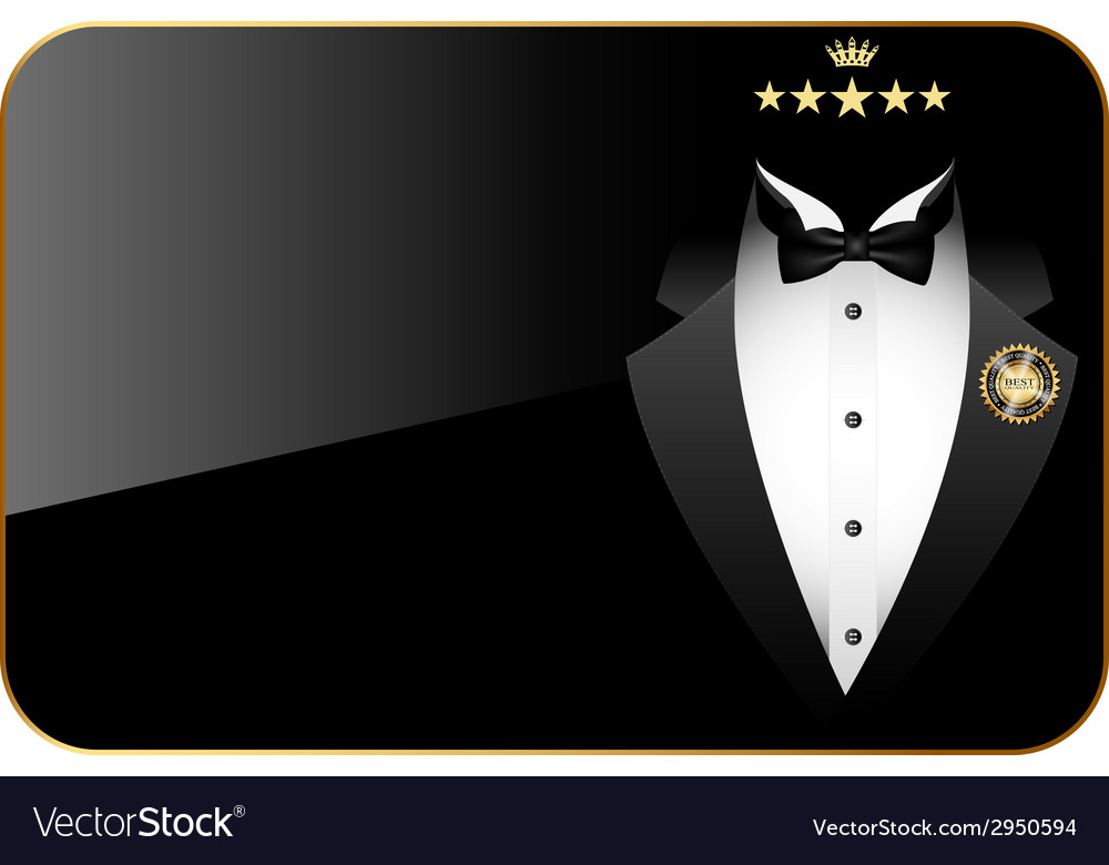 Premium quality tuxedo vector | Price: 1 Credit (USD $1)