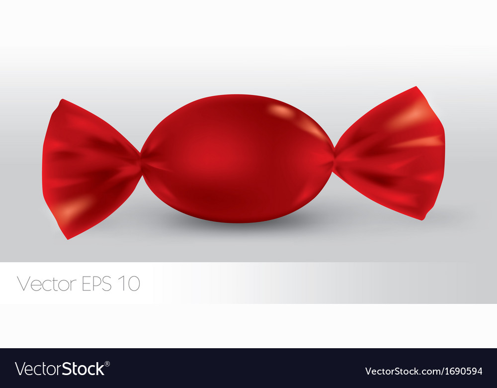 Red oval candy package for new design vector | Price: 1 Credit (USD $1)