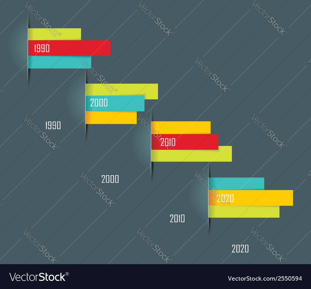 Time line design template with paper tags vector | Price: 1 Credit (USD $1)