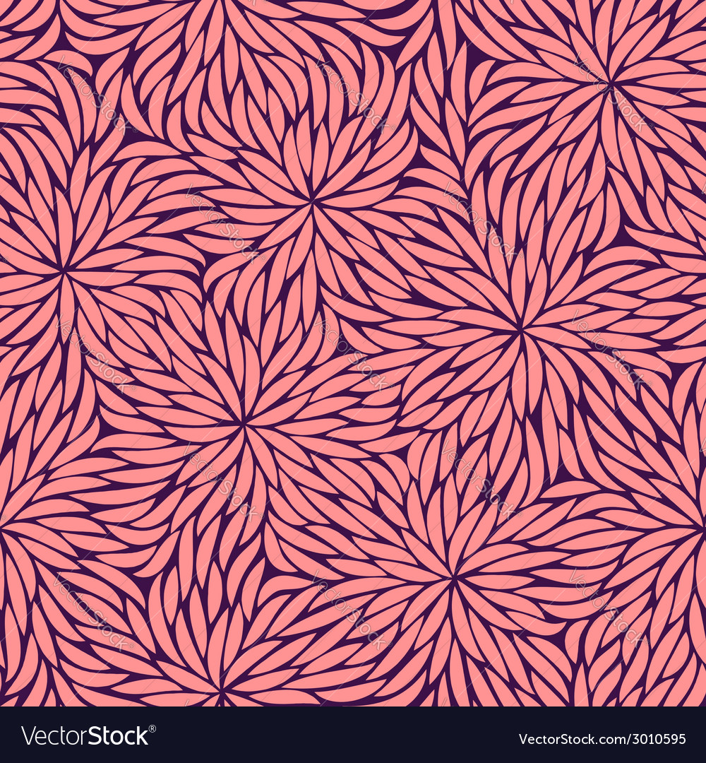 Abstract pink strokes flowers seamless pattern vector | Price: 1 Credit (USD $1)