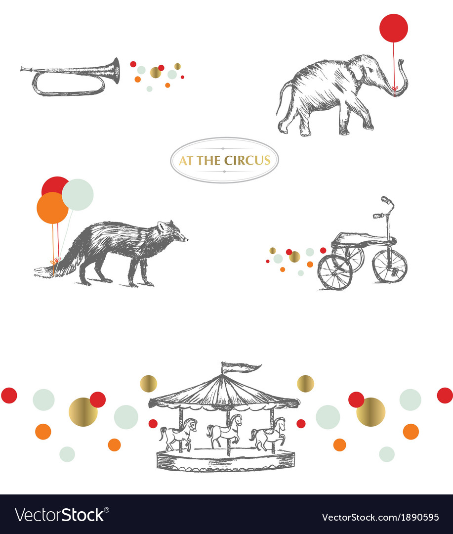 At the circus vector | Price: 1 Credit (USD $1)