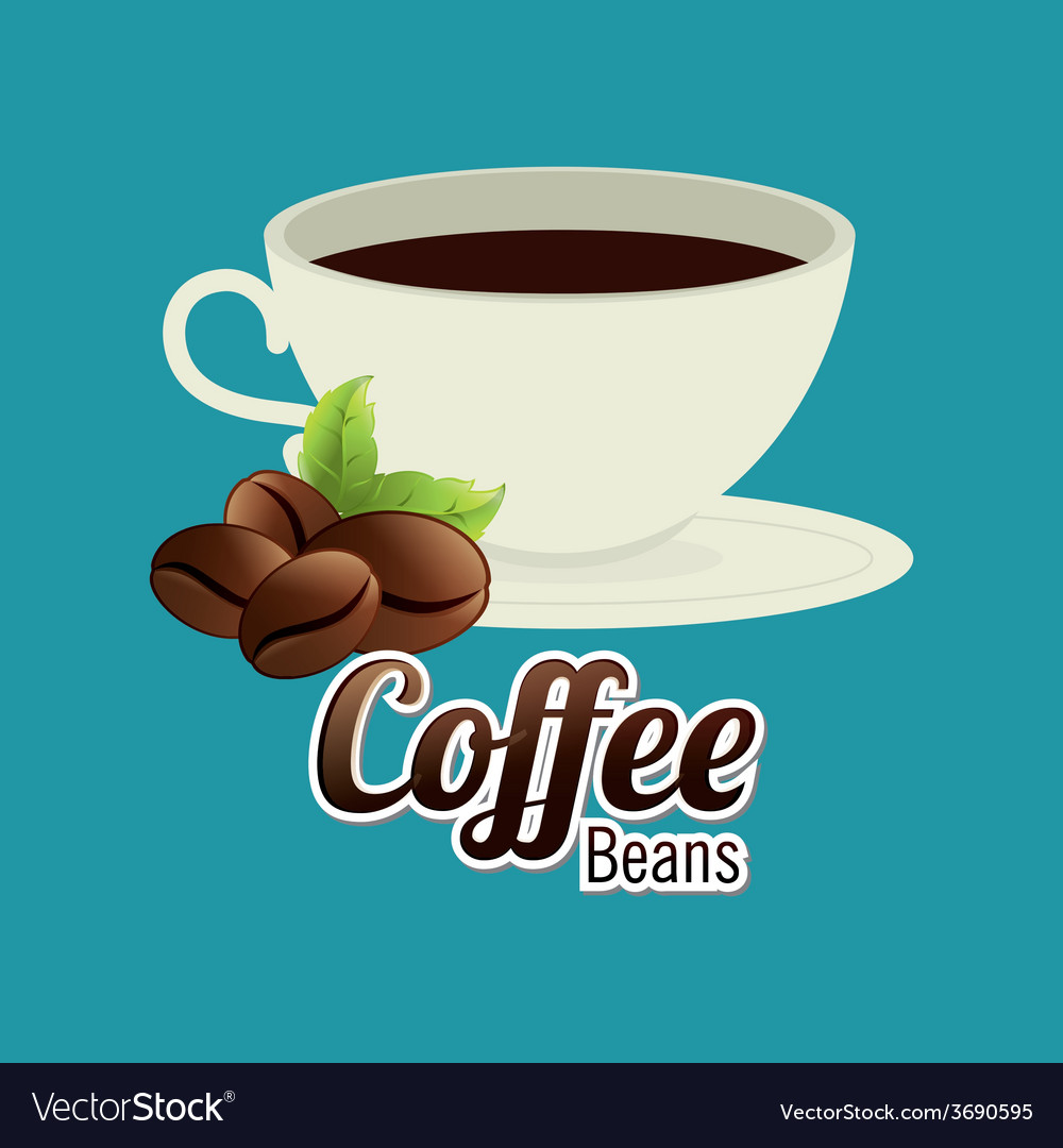 Coffee design over blue background vector | Price: 1 Credit (USD $1)
