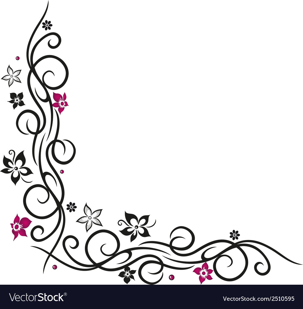 Flower decoration vector | Price: 1 Credit (USD $1)