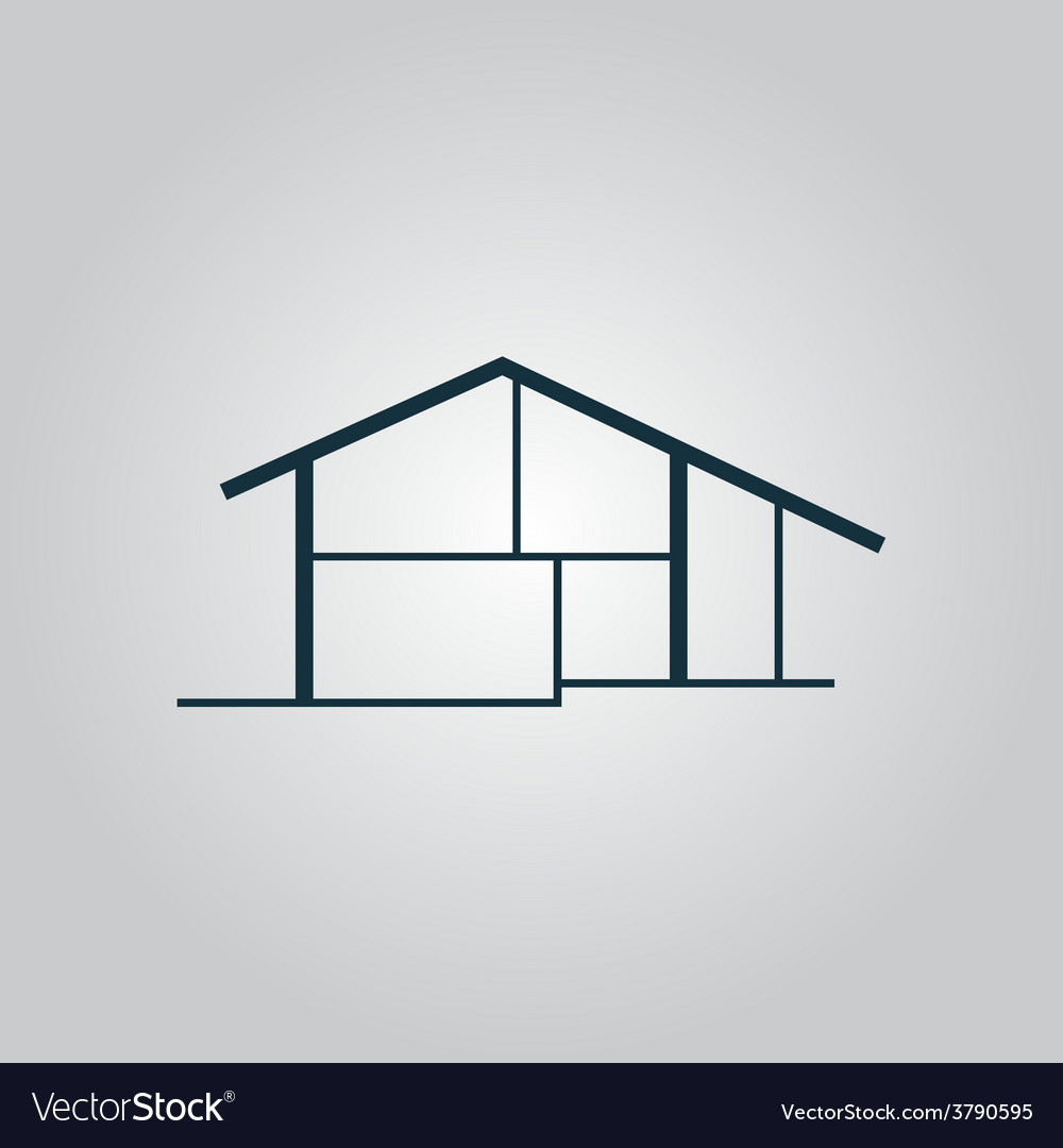 Modern house icon sign and button vector   Price: 1 Credit (USD $1)