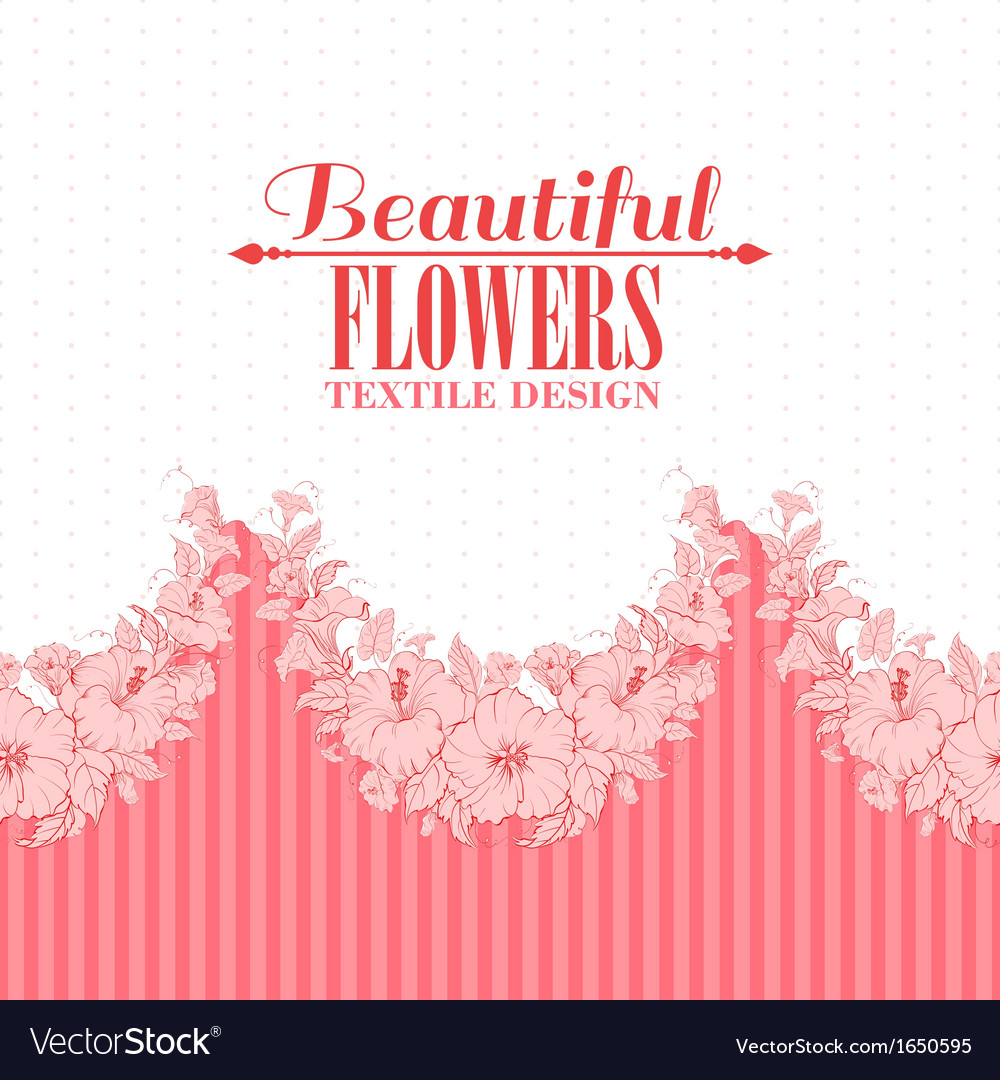Red flower seamless pattern vector | Price: 1 Credit (USD $1)