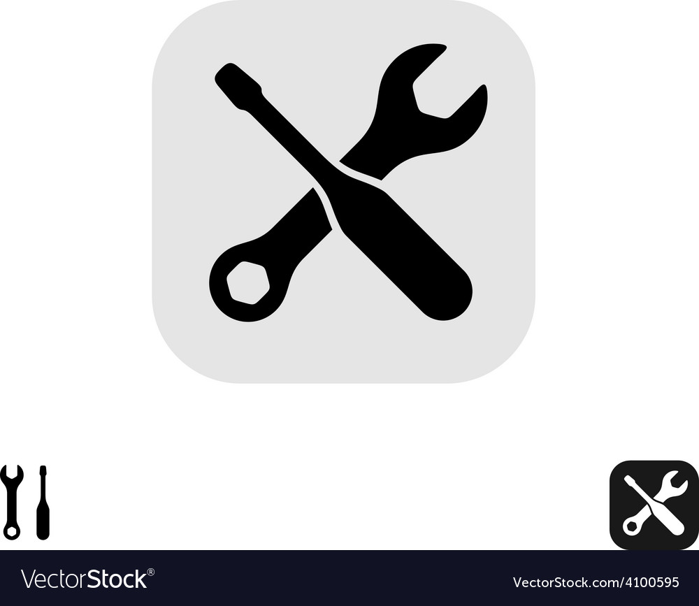 Screwdriver and wrench tools icon service or vector | Price: 1 Credit (USD $1)