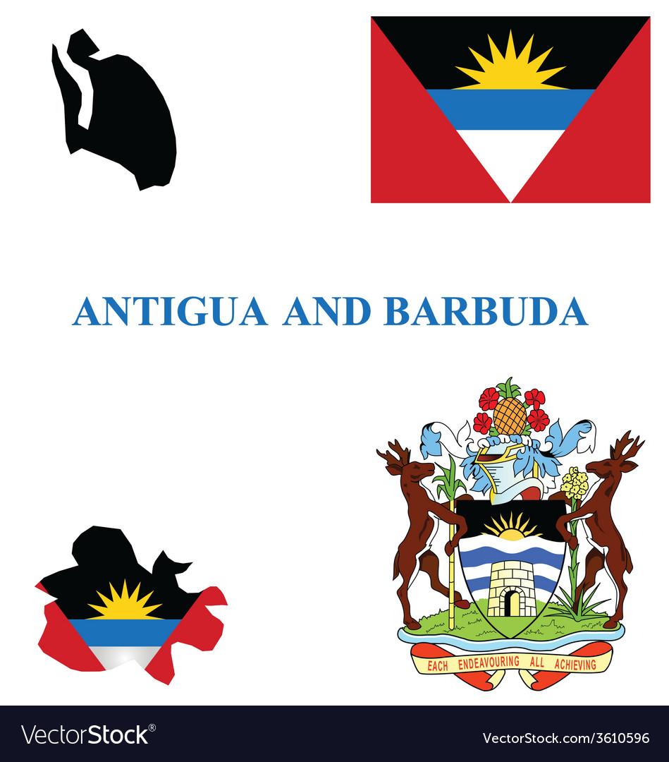 Antigua and barbuda flag vector | Price: 1 Credit (USD $1)