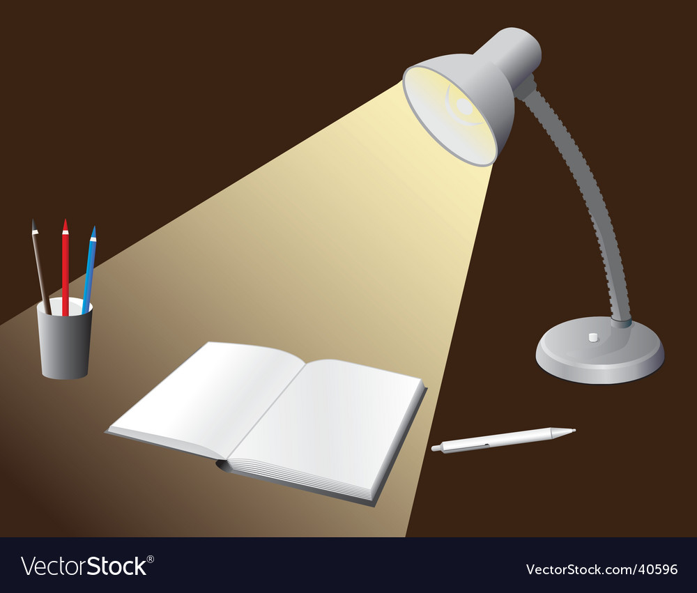 Illuminated bulb to the desktop vector | Price: 1 Credit (USD $1)