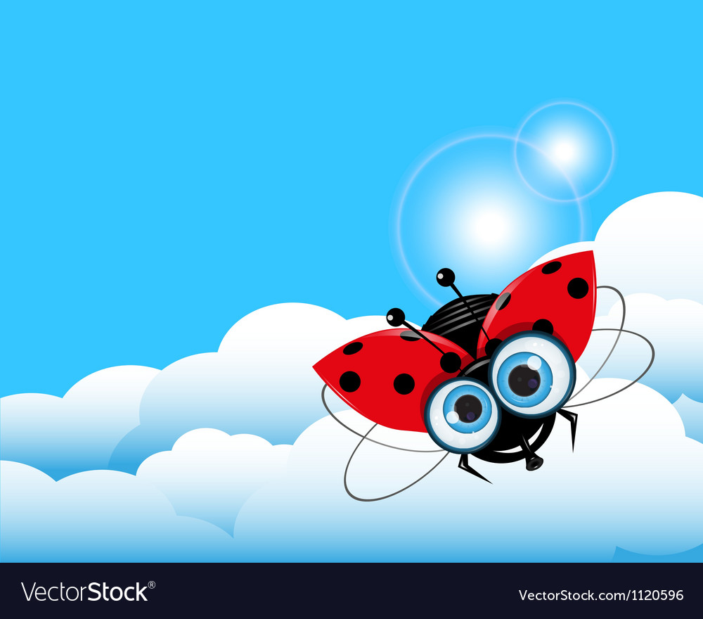 Ladybug in the sky vector   Price: 1 Credit (USD $1)