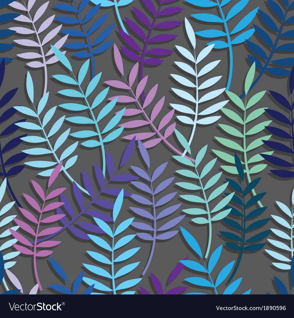 Leaf floral abstract seamless vector | Price: 1 Credit (USD $1)