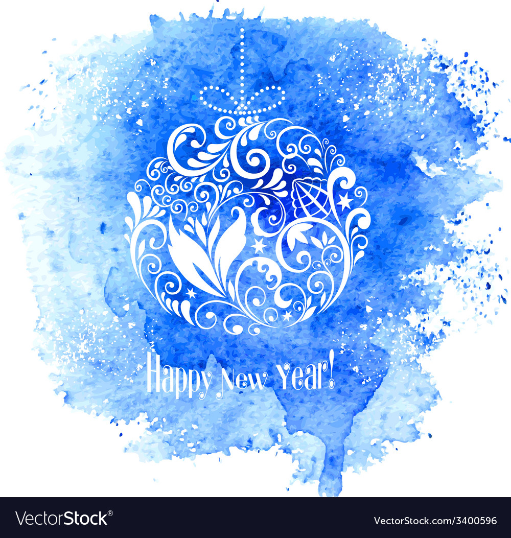 Merry christmas and new year greeting card vector | Price: 1 Credit (USD $1)