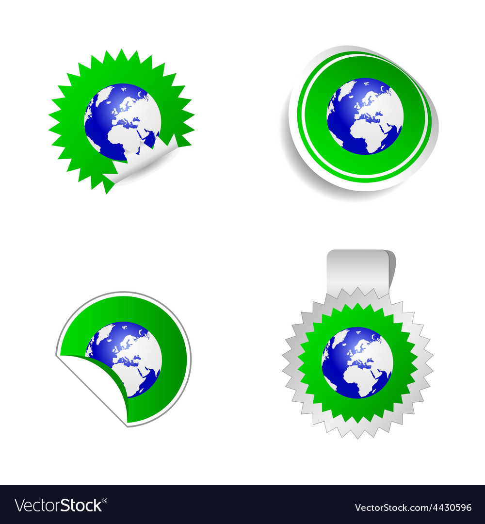 Sticker planet green vector   Price: 1 Credit (USD $1)