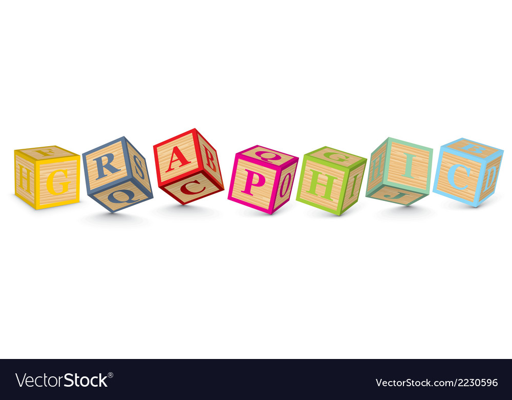 Word graphic written with alphabet blocks vector | Price: 1 Credit (USD $1)