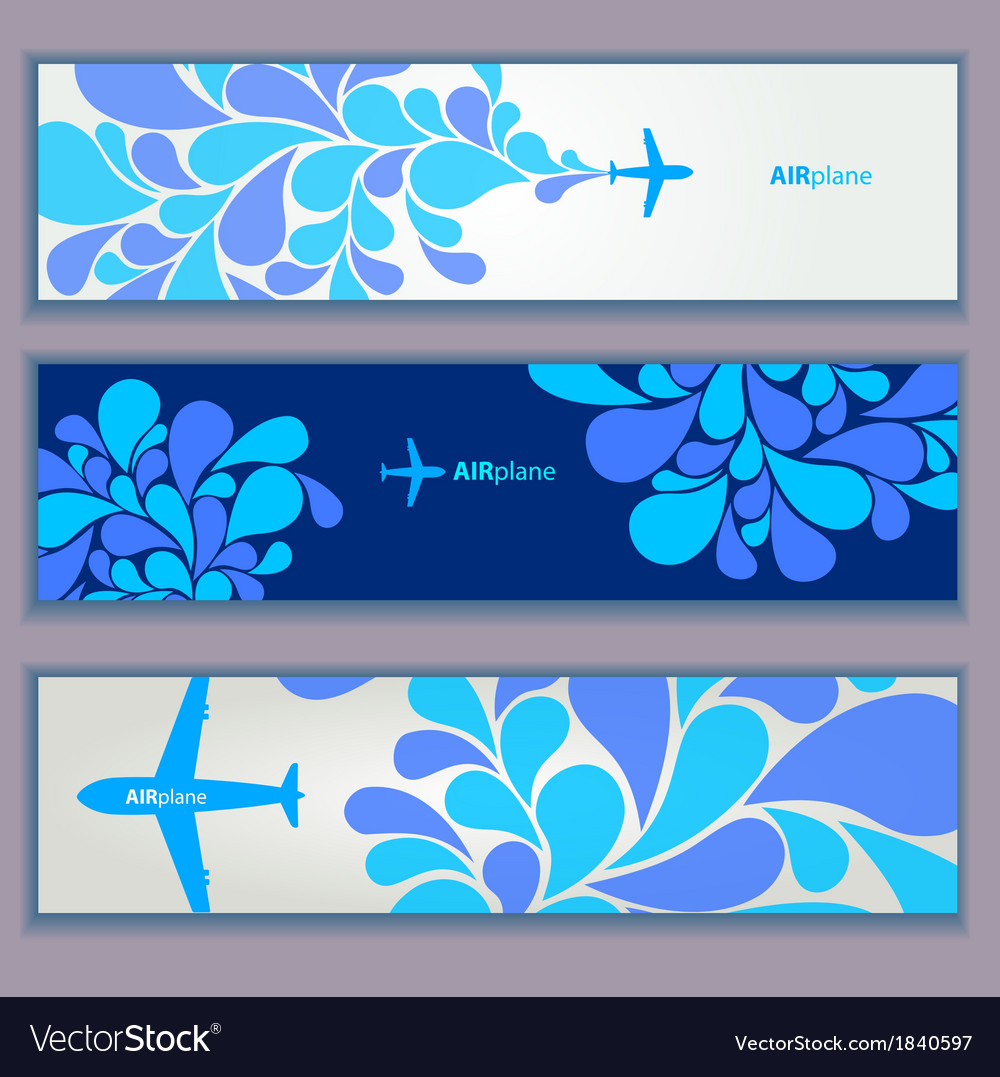 Air plane design banners vector | Price: 1 Credit (USD $1)