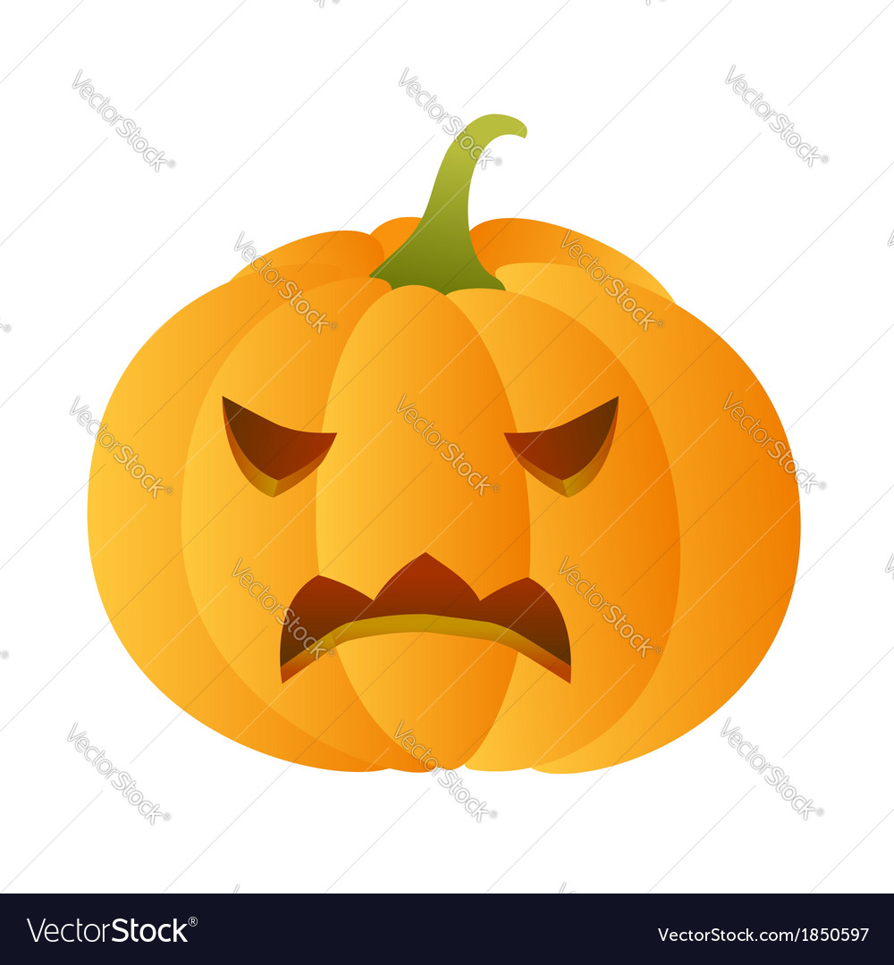 Angry carved pumpkin vector | Price: 1 Credit (USD $1)