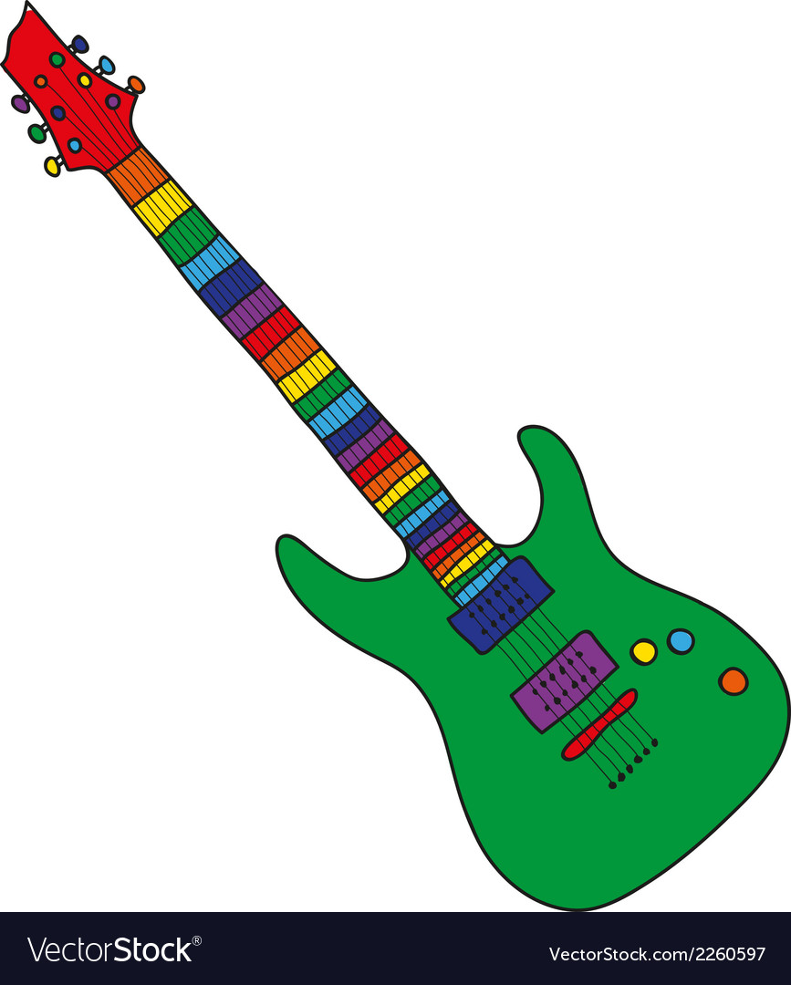 Cartoon guitar vector | Price: 1 Credit (USD $1)