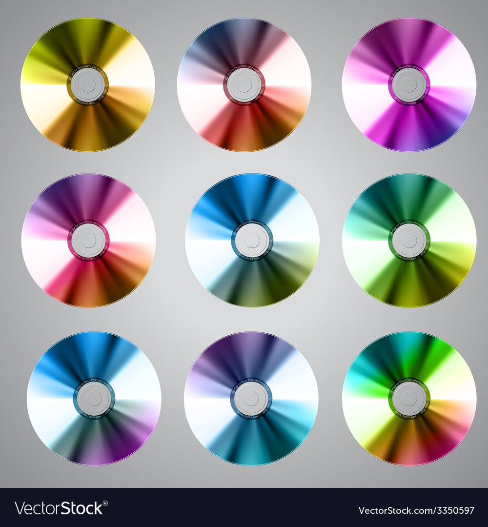 Disco abstract background set of record or disk vector | Price: 1 Credit (USD $1)