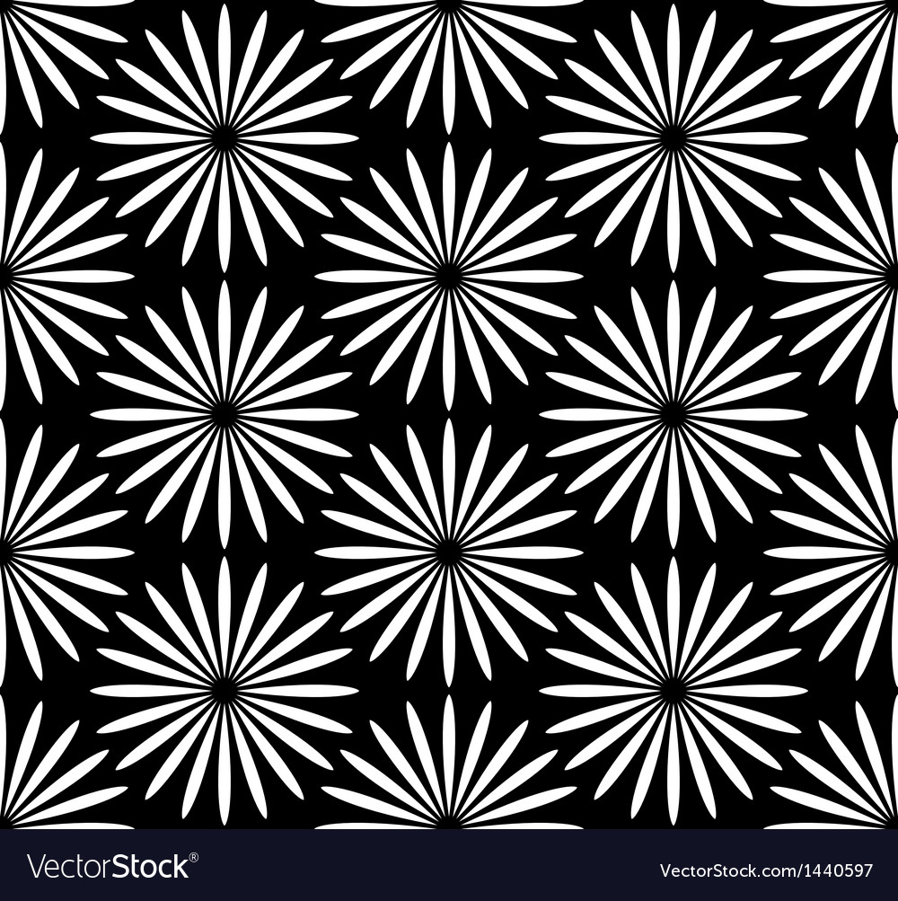Flower black and white pattern vector | Price: 1 Credit (USD $1)