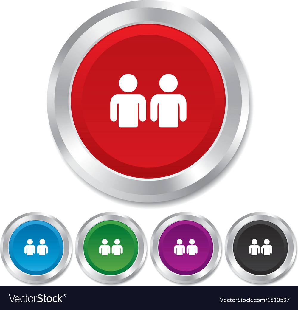 Friends sign icon social media symbol vector | Price: 1 Credit (USD $1)