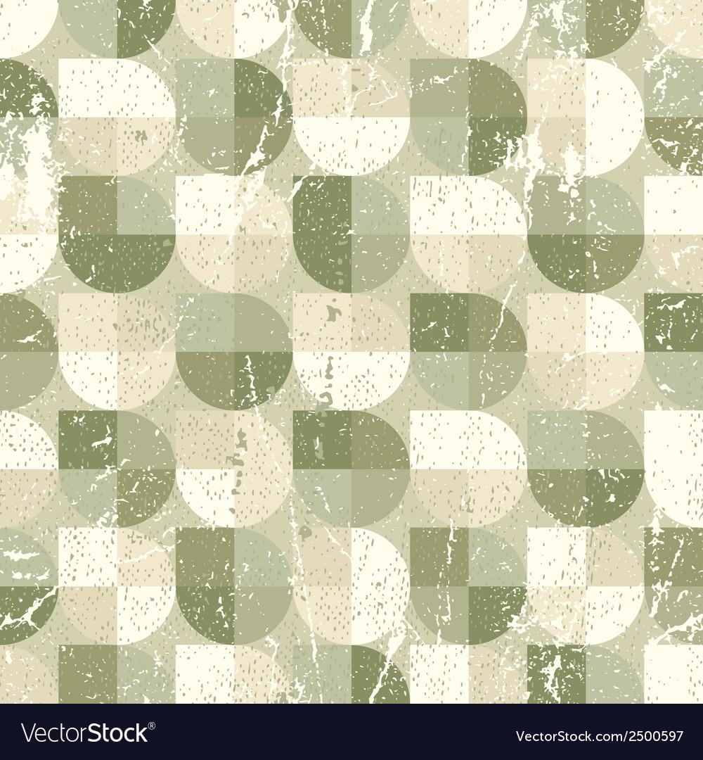 Geometric spherical seamless pattern vintage vector | Price: 1 Credit (USD $1)