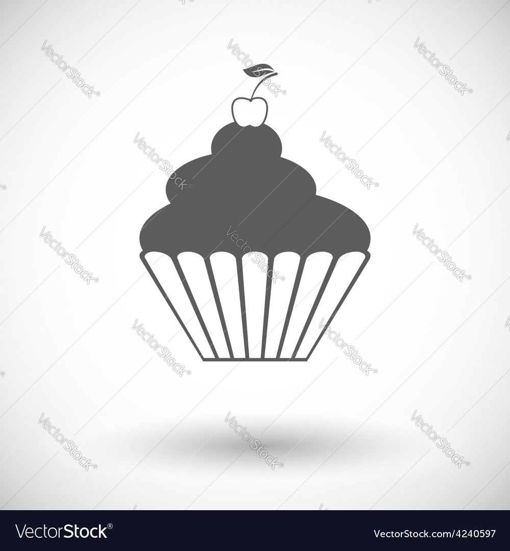 Icon cake vector | Price: 1 Credit (USD $1)
