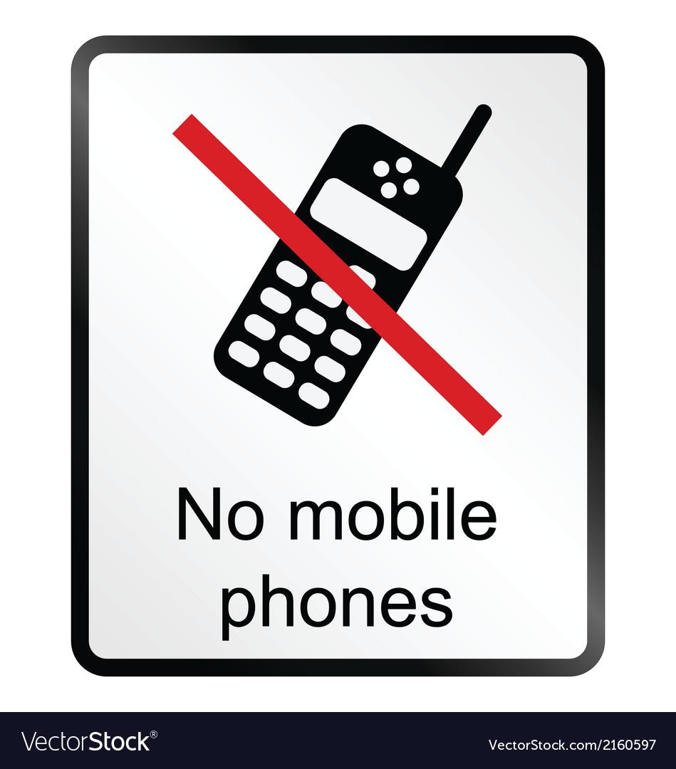 No mobile phones information sign vector | Price: 1 Credit (USD $1)