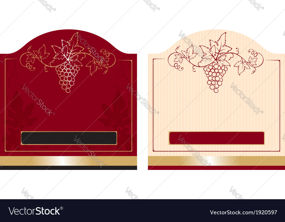 Patterns wine labels vector | Price: 1 Credit (USD $1)