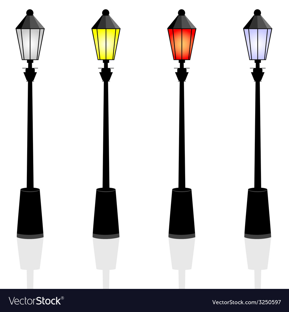Street lights color vector | Price: 1 Credit (USD $1)