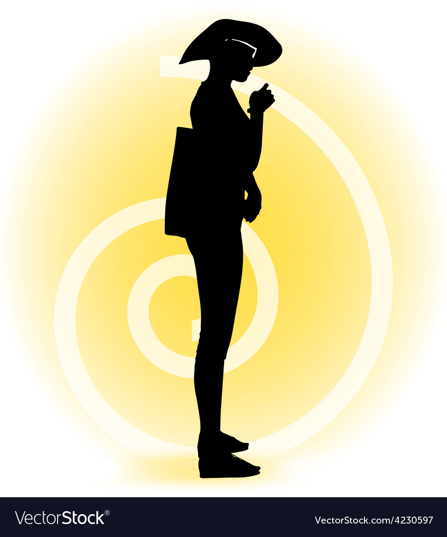 Tourist woman silhouette with handbag and vector   Price: 1 Credit (USD $1)