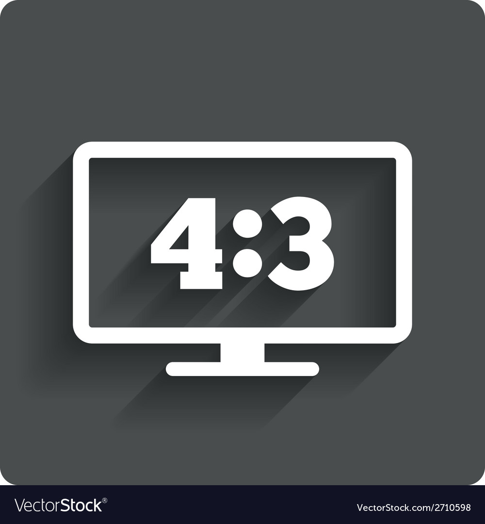 Aspect ratio 43 widescreen tv monitor symbol vector | Price: 1 Credit (USD $1)