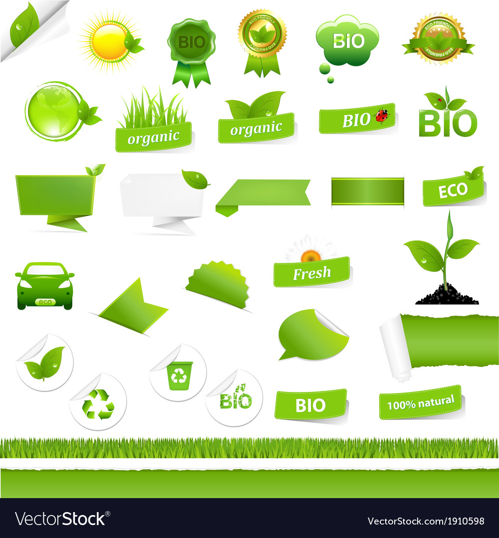 Bio signs set vector | Price: 1 Credit (USD $1)