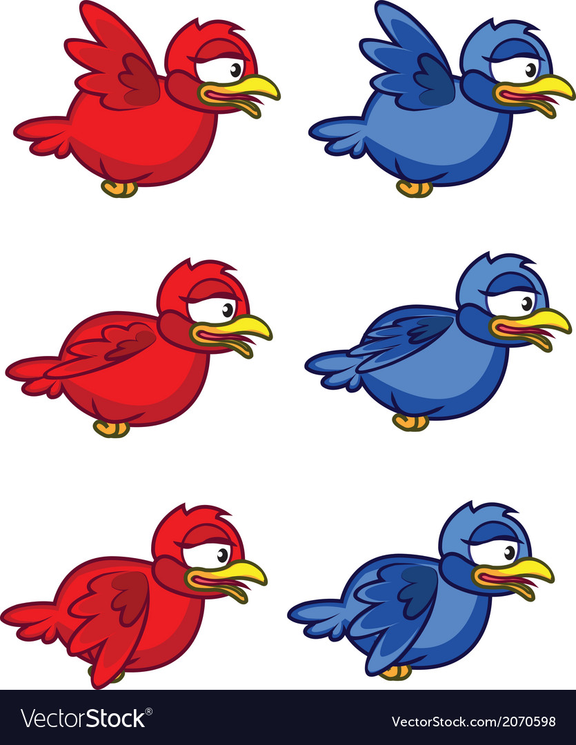 Bird flying animation sprite vector | Price: 1 Credit (USD $1)