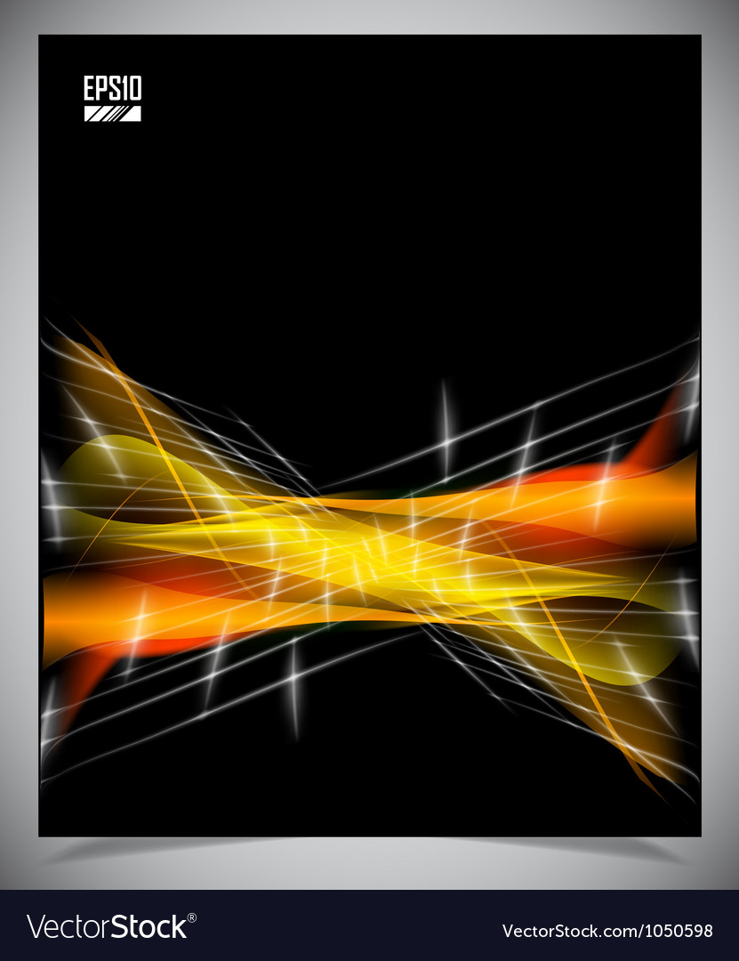Black and yellow modern futuristic background vector | Price: 1 Credit (USD $1)