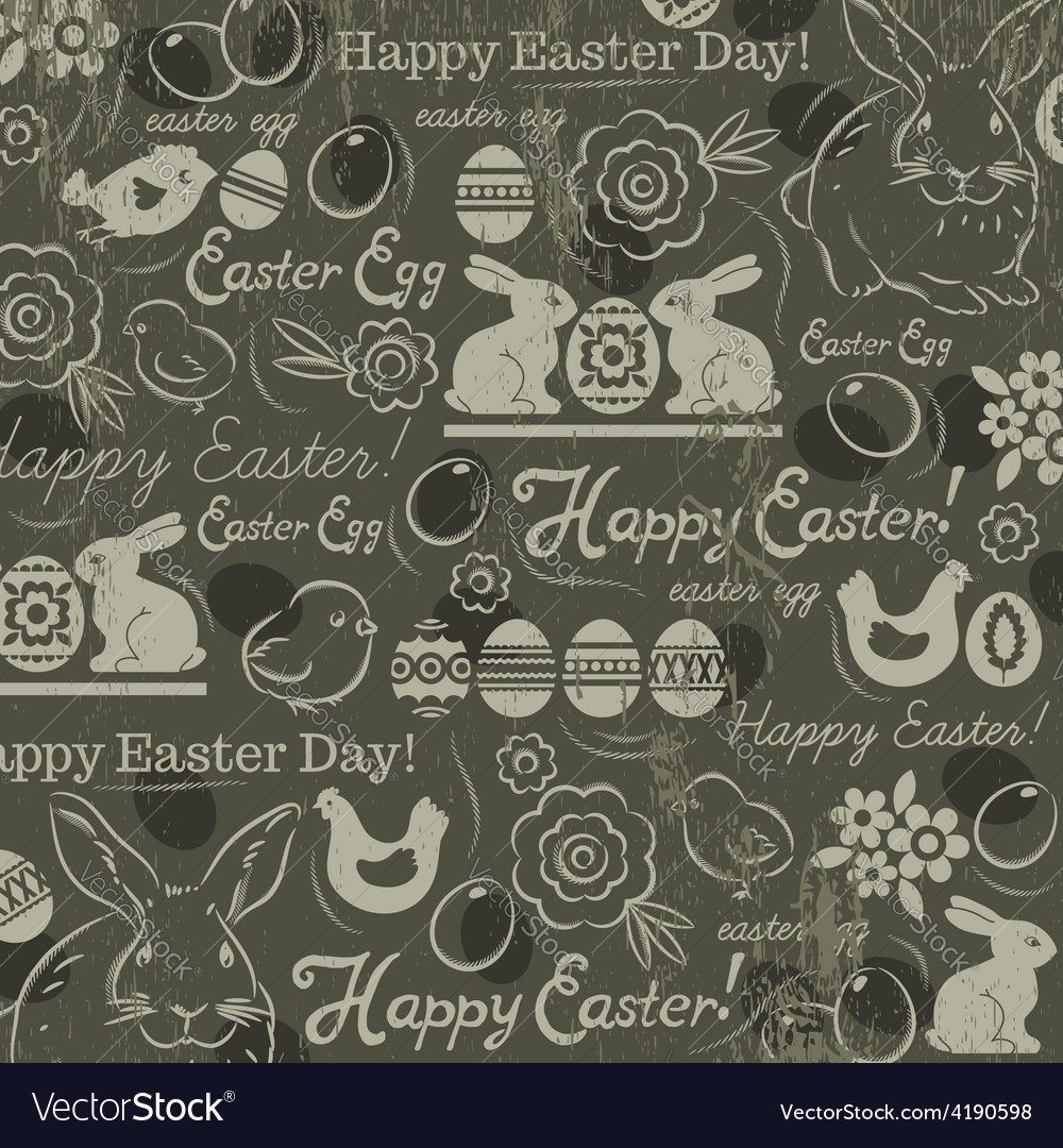 Easter background with rabbits vector | Price: 1 Credit (USD $1)