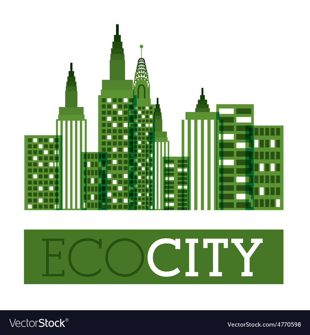 Eco city design vector | Price: 1 Credit (USD $1)