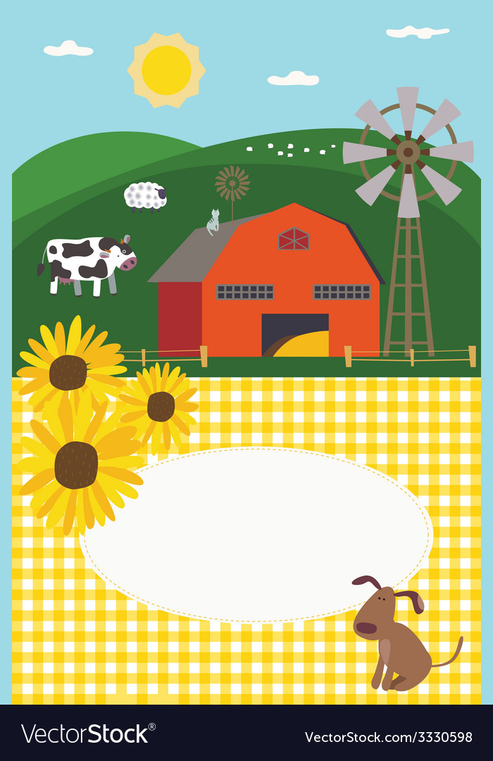 Invitation in rural style vector | Price: 1 Credit (USD $1)