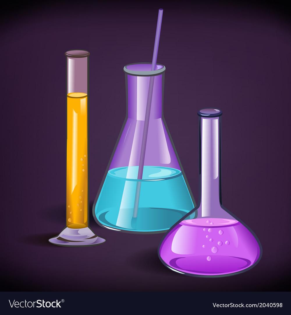 Laboratory glassware print template vector | Price: 1 Credit (USD $1)