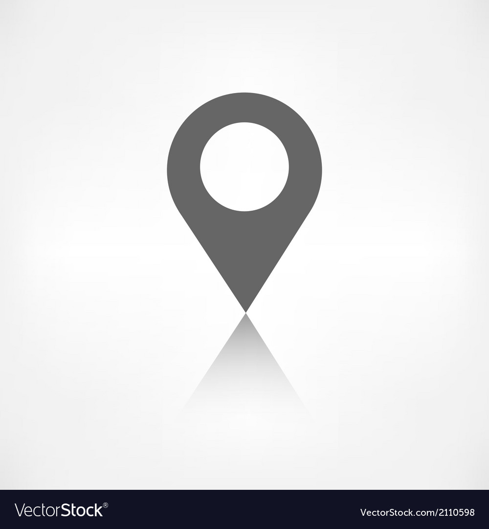 Map pointer icon location symbol vector | Price: 1 Credit (USD $1)