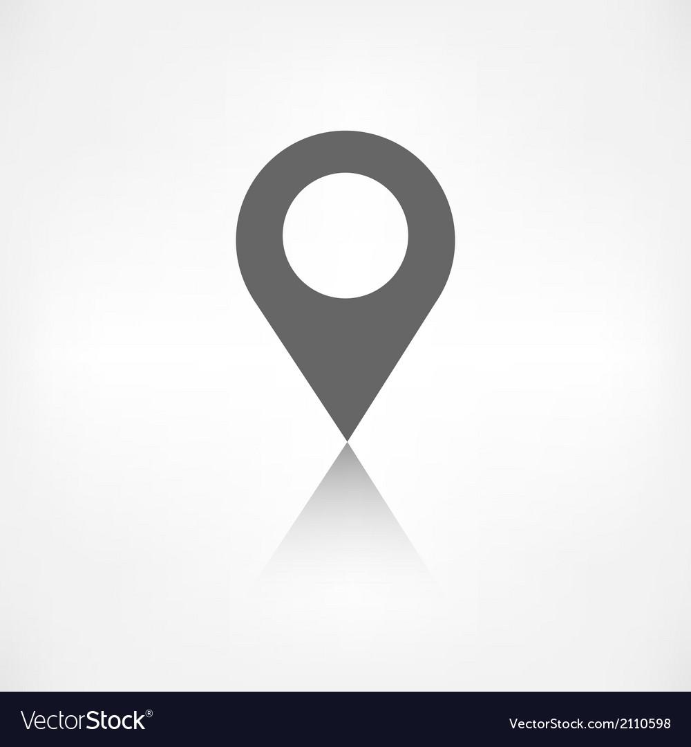 Map pointer icon location symbol vector | Price: 1 Credit (USD $1)