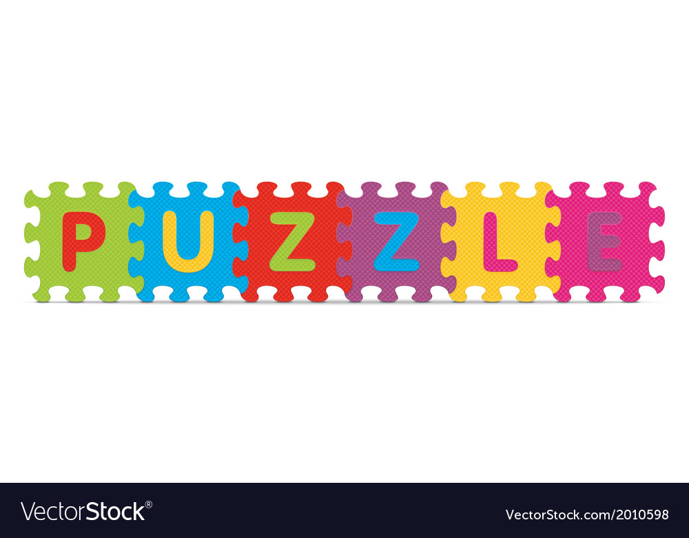 Puzzle written with alphabet puzzle vector | Price: 1 Credit (USD $1)