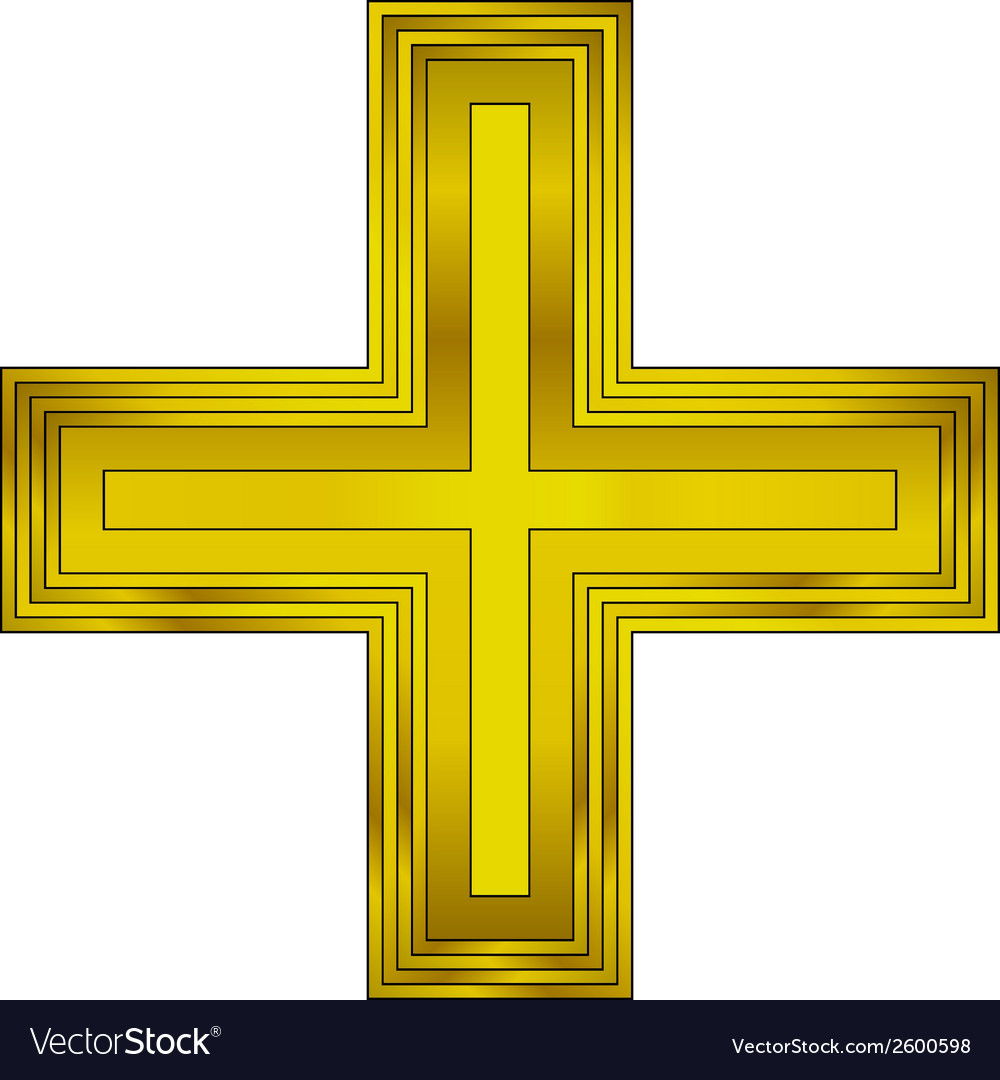 Religious gold cross vector | Price: 1 Credit (USD $1)